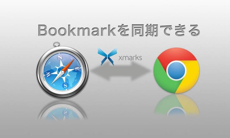 SafariとChromeでブックマークを同期させる方法。