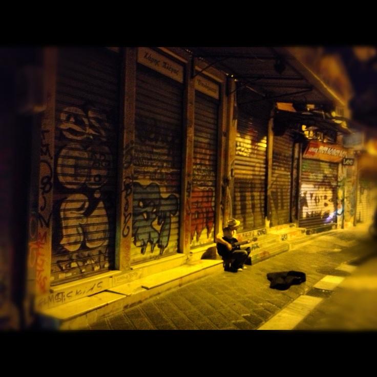 Nightlife Graffiti. Musician.