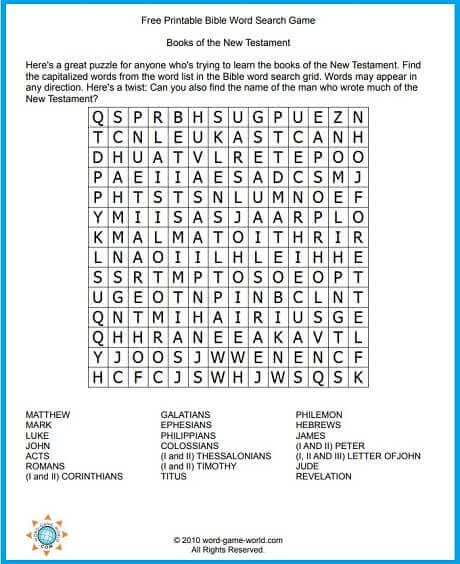 It is an image of Mesmerizing Printable Children's Bible Word Search Puzzles