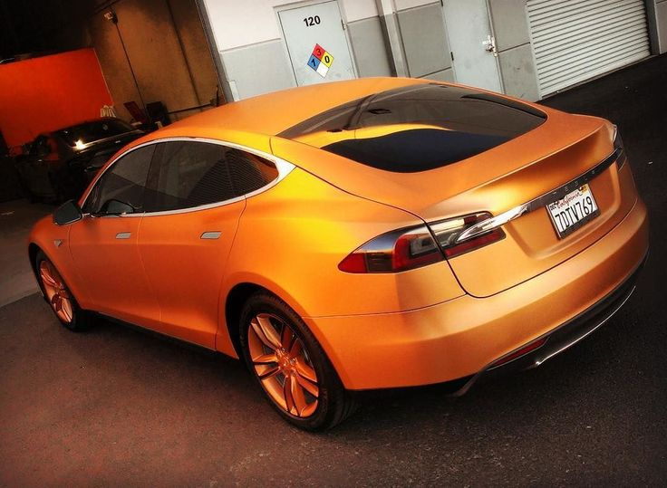 Gorgeous #Tesla wrapped in @averydennison brush bronze. Fantastic work by @incognitowrapslv #MakeitStick #PaintisDead