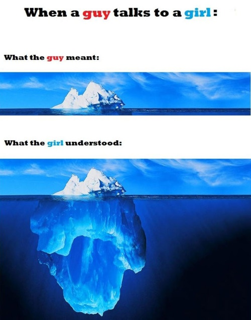 When a guy talks to a girl...
