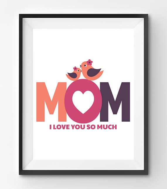 Mothers Day Printable Mothers Day Print Mothers Day Gift