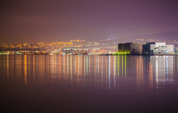 Thessaloniki's Reflections - The city of Thessaloniki, Macedonia Greece, reflected in Thermaikos bay.