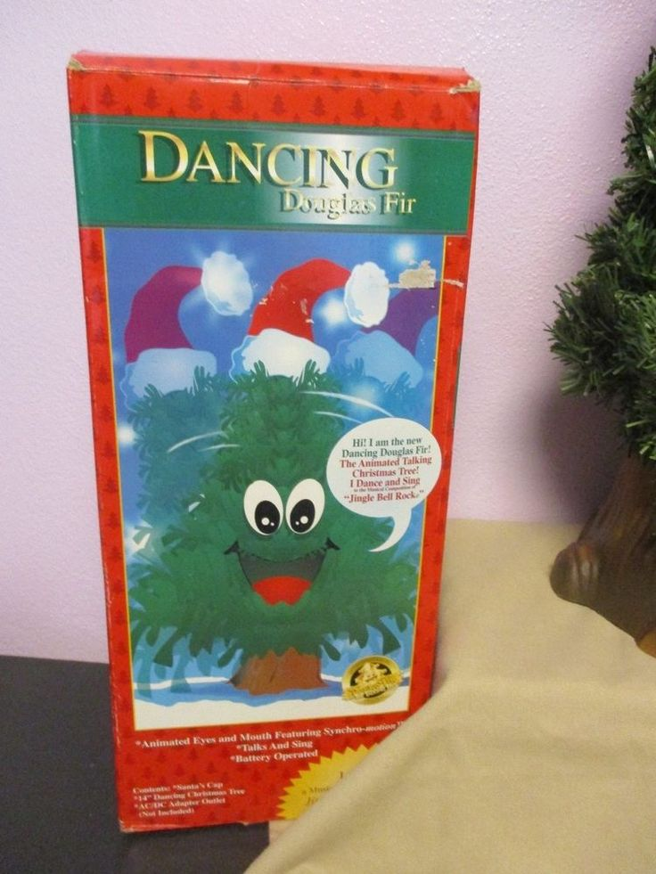 "Dancing Douglas Fir Animated Musical Christmas Tree 14"" Jingle Bell Rock #Gemmy"
