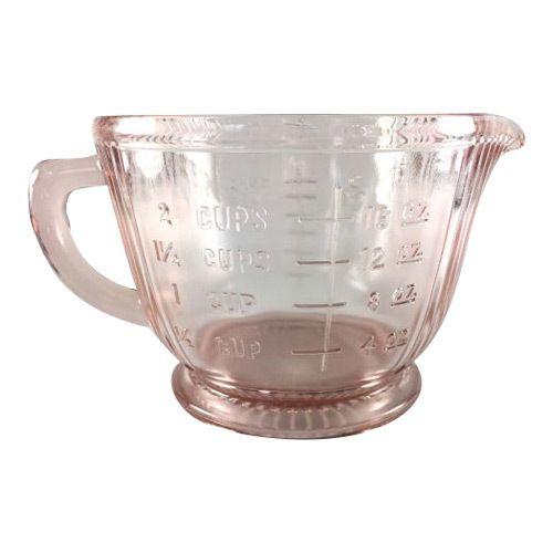 Vintage Pink Depression Glass Measuring Cup, 2 cup