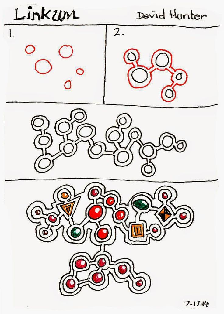 Linkum steps zentangle