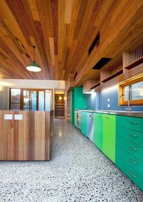 suelo de terrazo sin brillo memorable decor verde