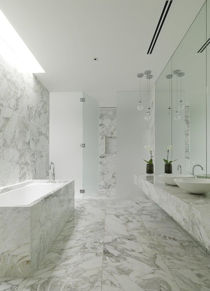 Seacombe Grove House By B.E Architecture   Nice White And Marble  Combination Bathroom Part 86