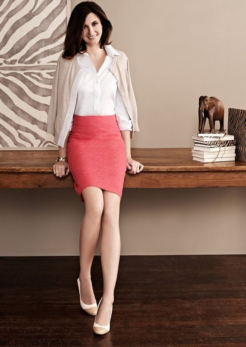 Love the skirt and its color; business fashion | Tumblr