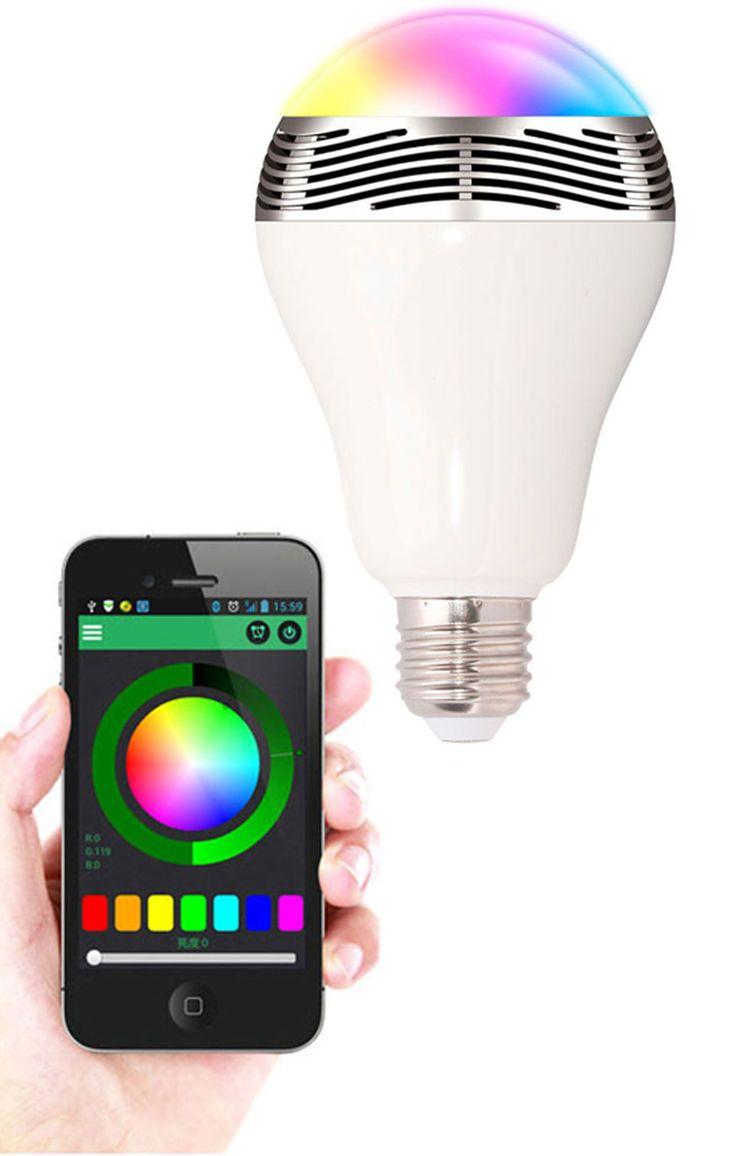 1000 images about lightbulb things on pinterest lightbulbs bulbs - 2 In 1 Led Light Bulb And Bluetooth Speaker This Unique Lightbulb Uses