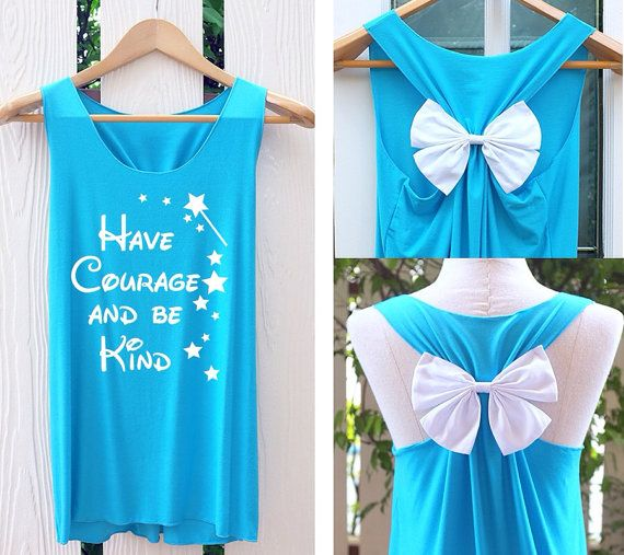 Have courage and be kind Bow Tank Top. Racerbackbow. Bride to be. Tank Top. Bridal Tank Top. Bride-to-Be. Bachelorette Party Tank Tops.