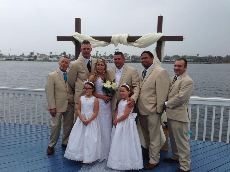 Wedding at The Waterfront Event Center Chopin Mon Ami Catering Galveston, TX