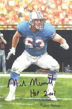 Mike Munchak Autographed/signed Houston Oilers Goal Line Art Card In Black W/hof - Signed NFL Football Cards by Sports Memorabilia. $66.79. MIKE MUNCHAK AUTOGRAPHED/SIGNED HOUSTON OILERS GOAL LINE ART CARD IN BLACK W/HOF