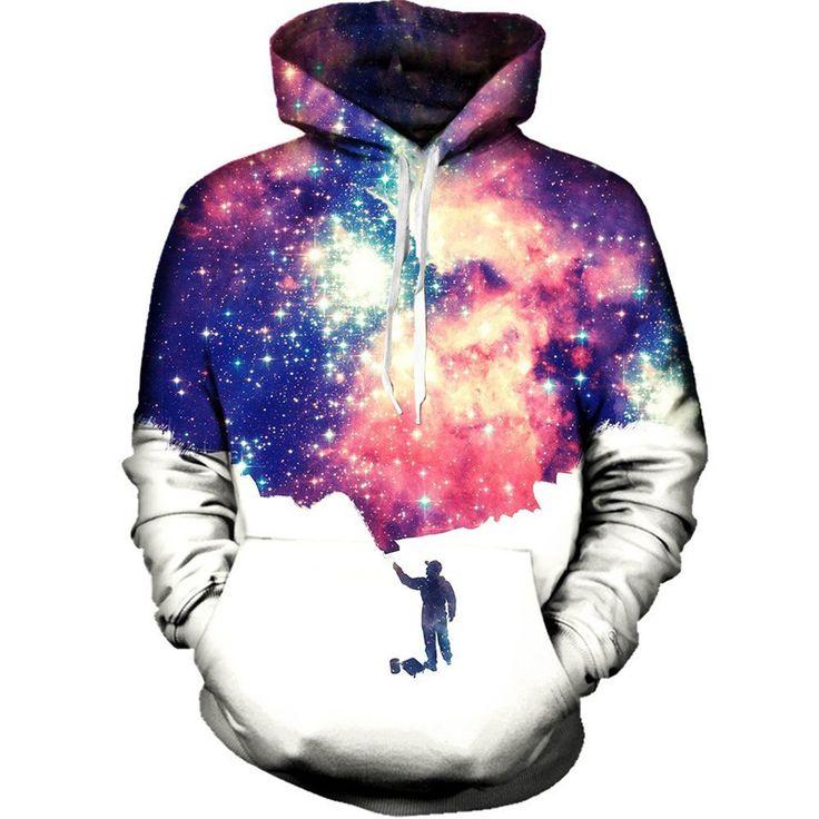 Cloudstyle 3D Space Men Print Comfortable Longsleeve Fashion Hoodie //Price: $37.45 & FREE Shipping //     #3dwear