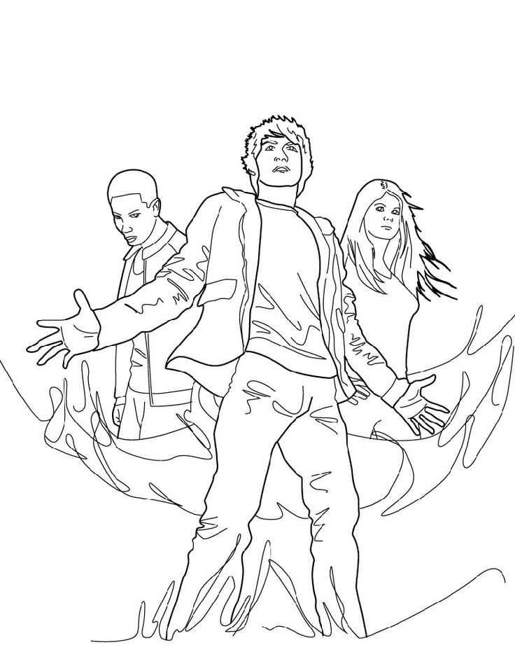 Percy Jackson Characters Coloring Pages in 2020 Percy