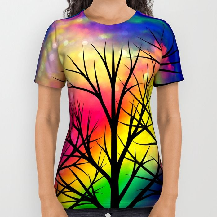 rainbow sunset All Over Print Shirt by Haroulita | Society6