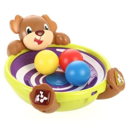 Развивающая игрушка Игривый щенок  — 2000р. -------------------- Развивающая игрушка Игривый щенок научит малыша проводить время не только весело, но и с пользой. Забавный пес подготовился к встрече со своим новым другом: в его интересной чашечке по кругу вращаются три разноцветных шарика, которые потом вылетают. Малыш должен приноровиться и поймать каждый из них. Светящийся нос и иностранные песенки наверняка смогут подбодрить его и настроить на веселый лад. Для работы игрушки необходимы 3…