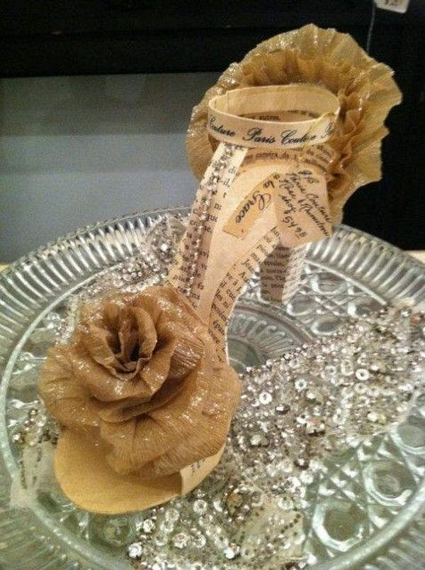 46 best images about bo 50 party ideas on pinterest for Shoe sculpture ideas