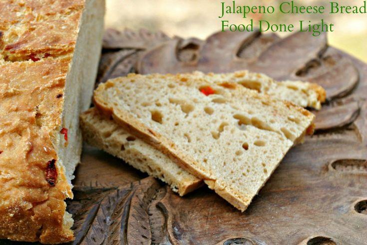 Jalapeno Cheese Bread #jalapenobread #noknead #wholewheatbread