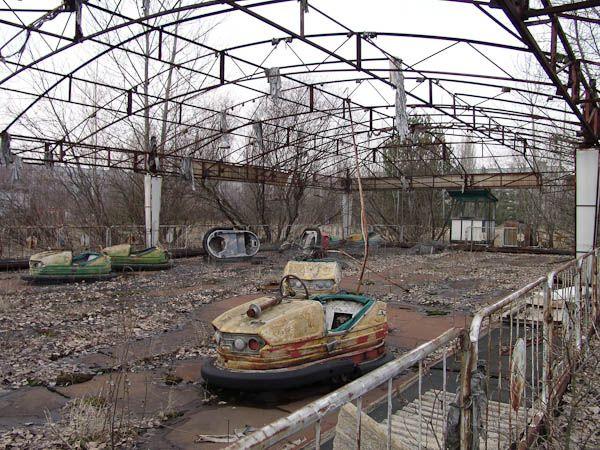 Abandoned amusement park near Chernoybl 1986