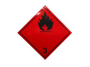 flammable liquid sign