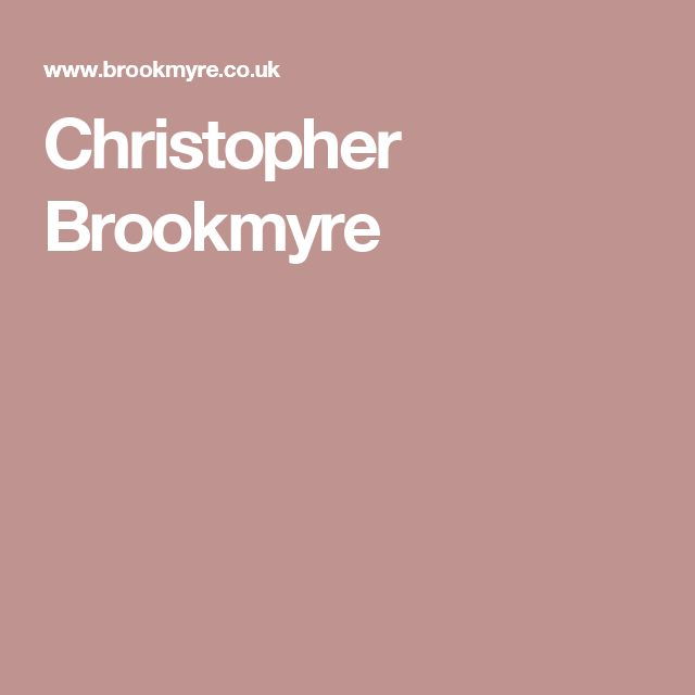 Christopher Brookmyre