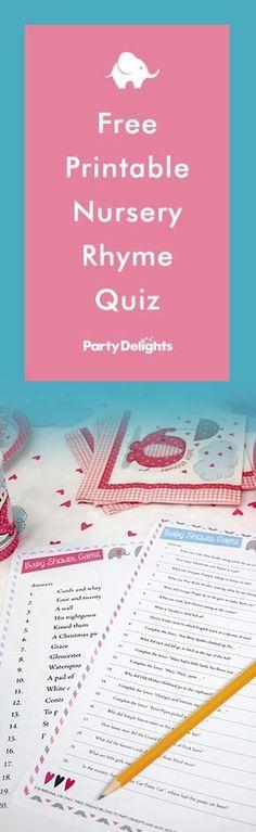Free Printable Nursery Rhyme Quiz