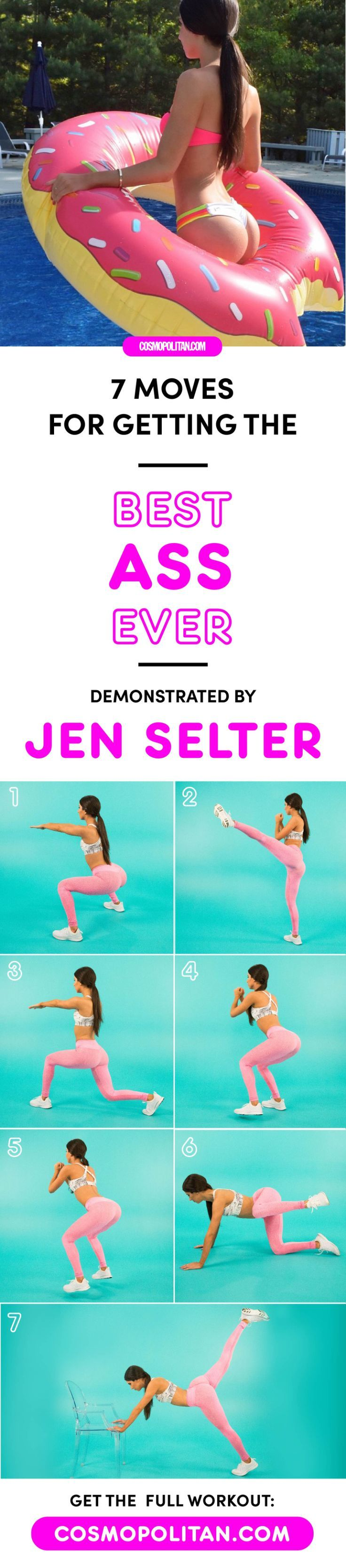 7 Moves for Getting the Best Ass Ever, Demonstrated by Jen Selter – Lorena Alaniz