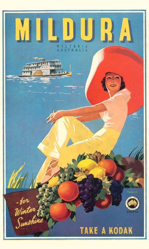 Mildura Vintage Travel print by James Northfield