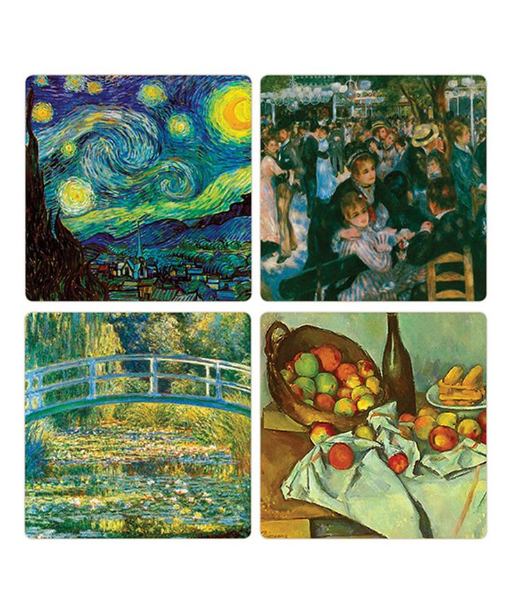 Look what I found on #zulily! Impressionists Artists Coaster - Set of Four by CoasterStone #zulilyfinds