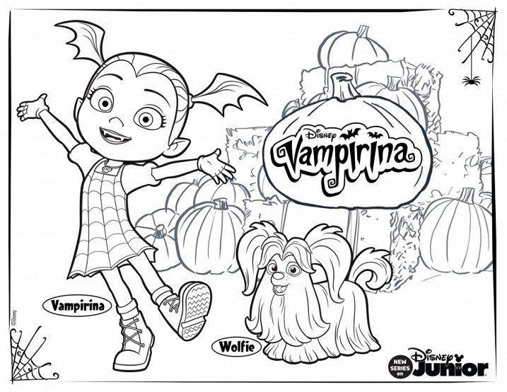 Vampirina Dibujos Para Imprimir Y Colorear Paginas Para Colorear