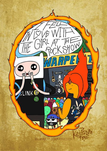 Blink-182 Lyrics with Adventure Time art