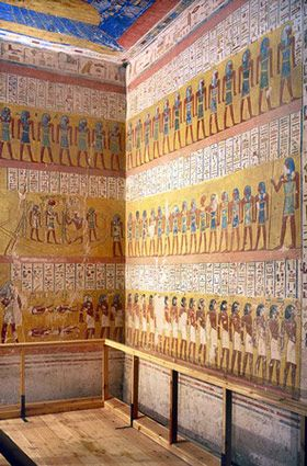 Tomb of Pharaoh Ramesses IV, in Valley of the Kings, Egypt.