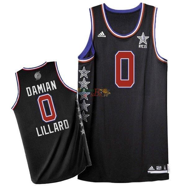 size 40 f574e 5dd63 2019 的 Maglia NBA 2015 All Star NO.0 Damian Lillard Nero ...