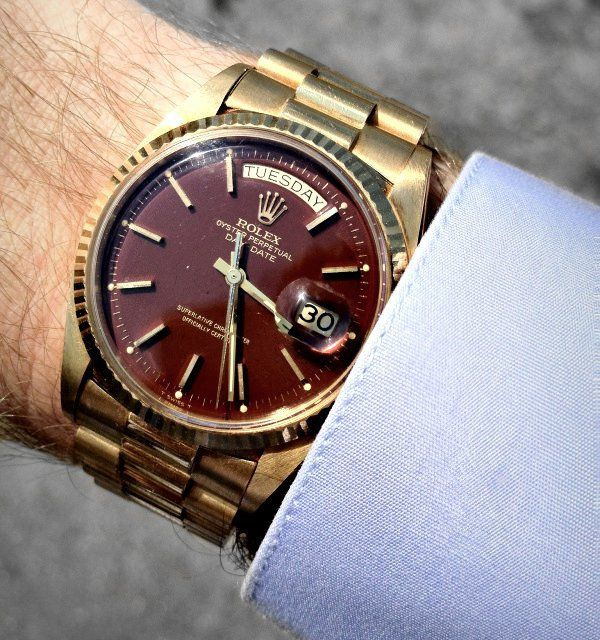 Rolex Oxblood Dial Day-Date