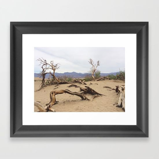 FRAMED ART PRINT $38.00 -  Dali's Death of a Tree by #isdesignlabs -   #photography #photo #digital  #color  #vintage #dali  #death  #tree  #deathvalley   #twisted  #nature  #desert  #roots  #soft  #bark