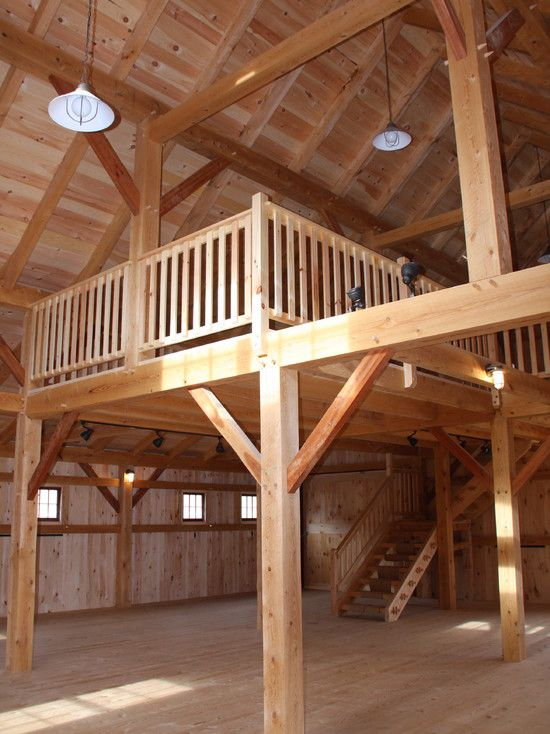 Barn style loft amazing home pinterest barn and for Barn plans with loft apartment
