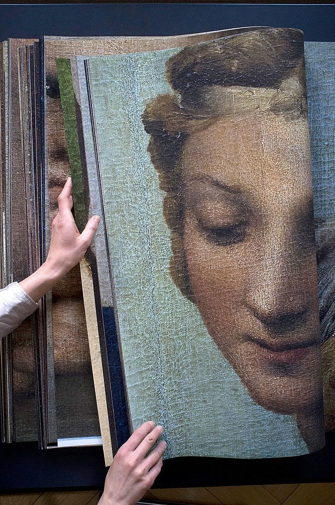 Details of the Sistine Madonna by Raphael, photographed by Katharina Gaenssler, 2012 (book)