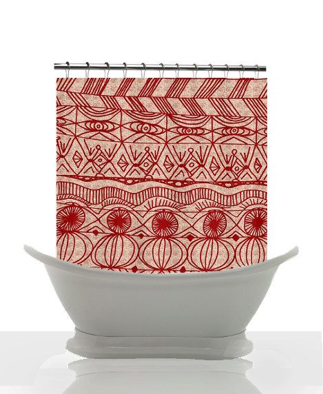 red and cream shower curtain. Holiday Shower Curtain  Cranberries and Cream unique red home decor cream pattern winter 60 best shower Curtains images on Pinterest Art Artworks