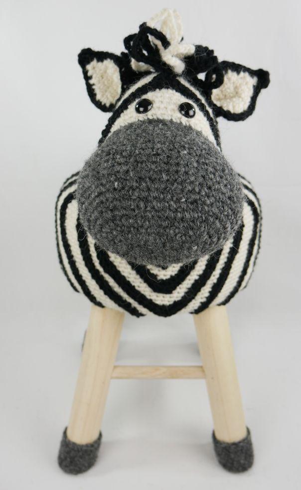 Dieren kruk zebra
