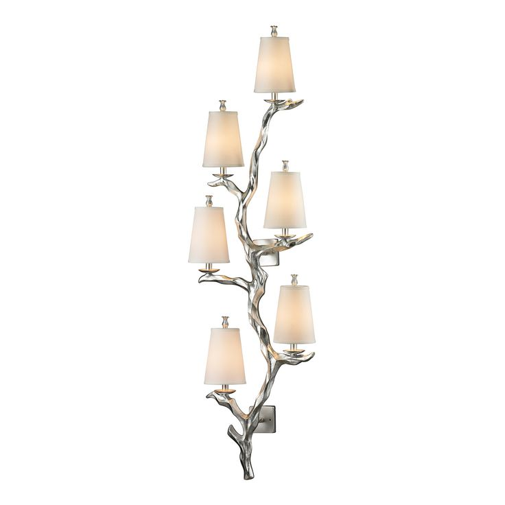 Sprig Silver Leaf Six Light Wall Sconce Elk Lighting 3 Lights Or More Wall  Sconces Wall Li