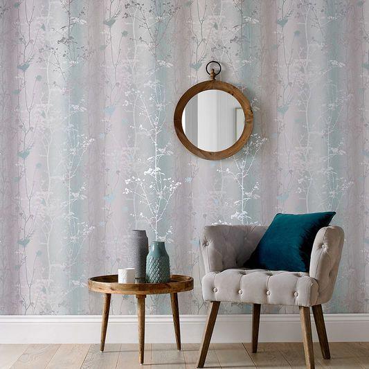 Wild Flower Mint Wallpaper | Graham & Brown UK