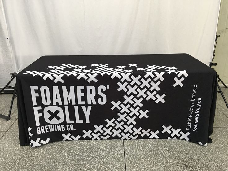 Black and white or full colour our tablecloths are like no other! #ohmyprint #tablecloth #fabricprinting #printing #customfabric #vancouver #canada