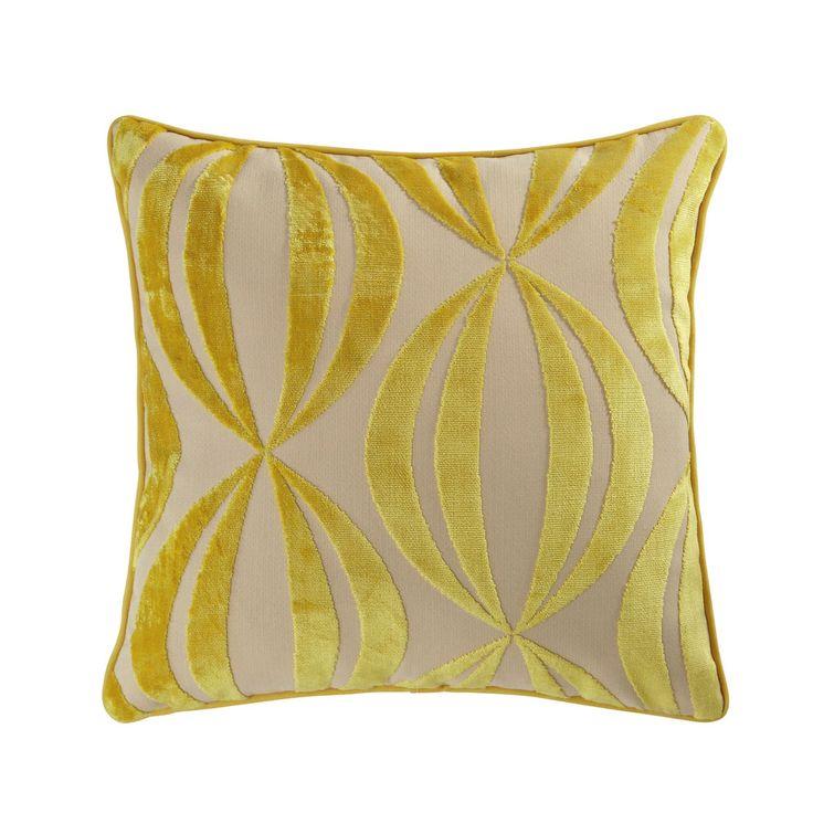 Cuscino giallo 45 x 45 cm HYPNOSIS | Maisons du Monde