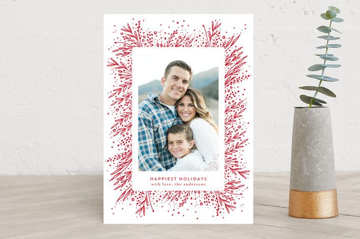 """""""Amazing Frame"""" - Floral #merry #happyholidays #foil #gold #rosegold #merrychristmas #photocards #minted #holidayscards #cards #christmas #holiday #happynewyear #cheers #love #merrybright #religious #bright #joy #clean #simple #modern #elegant #glitter"""