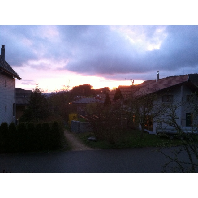 The picture doesn't do it justice, took this out of my girlfriend's house in Gempen, Switzerland.