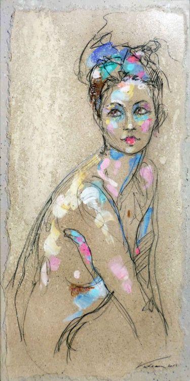 Raluca Vulcan (©2013 artmajeur.com/vulcanexpo) nu, personnage, femme