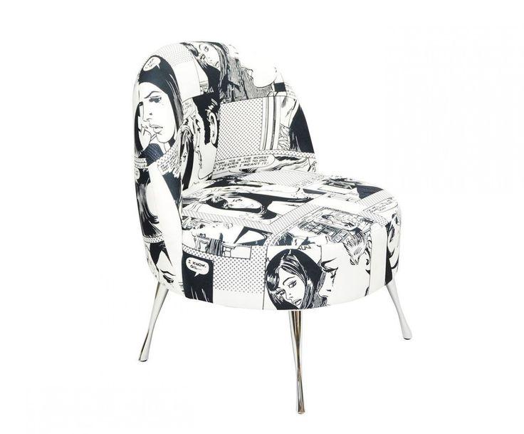 Popartowy Fotel Comiks Happy Barok  #fotel #armchair #chair #meble #furniture #house #home #dom #mieszkanie #homedesign #homedecor #livingroom #livingroomdesign #salon #new #polish #design #designer #happy #barok #thebest #popart #art #warhol #andywahol #komiks #comic #comicbook #cartoon #onemarket.pl