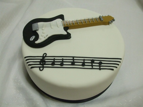 Guitar Shaped Cake Images Dmost for