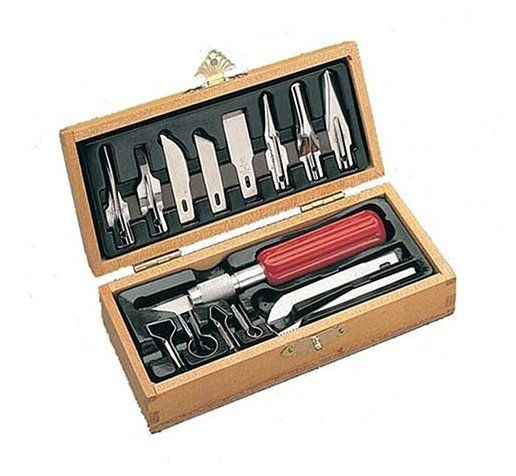 Xacto X5175 Deluxe Woodcarving Set - Because whittling is the best.